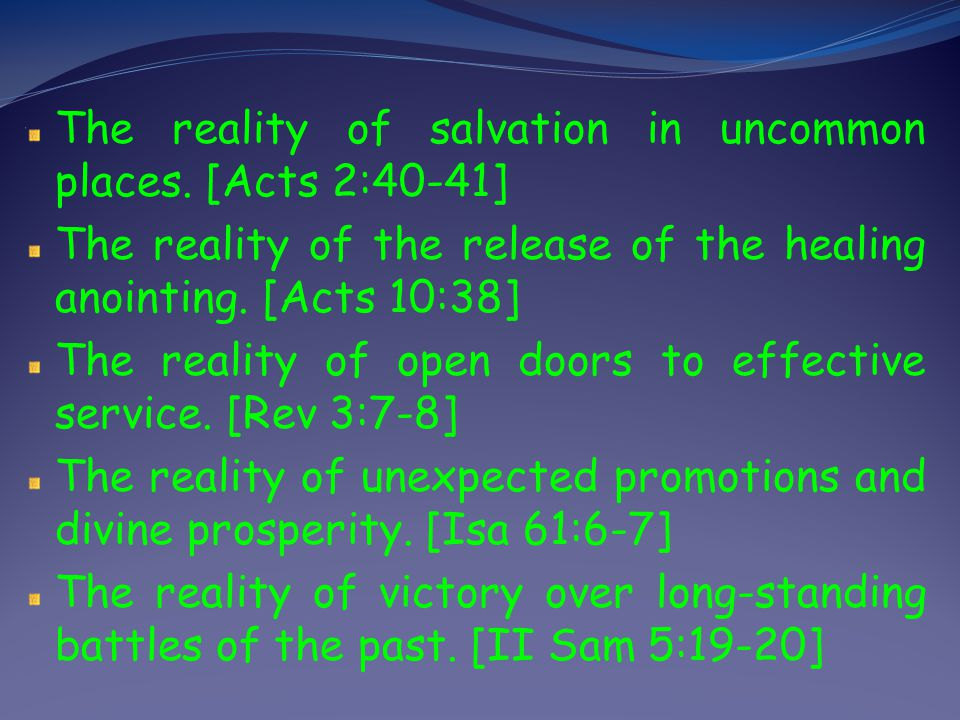 The reality of salvation in uncommon places. [Acts 2:40-41]